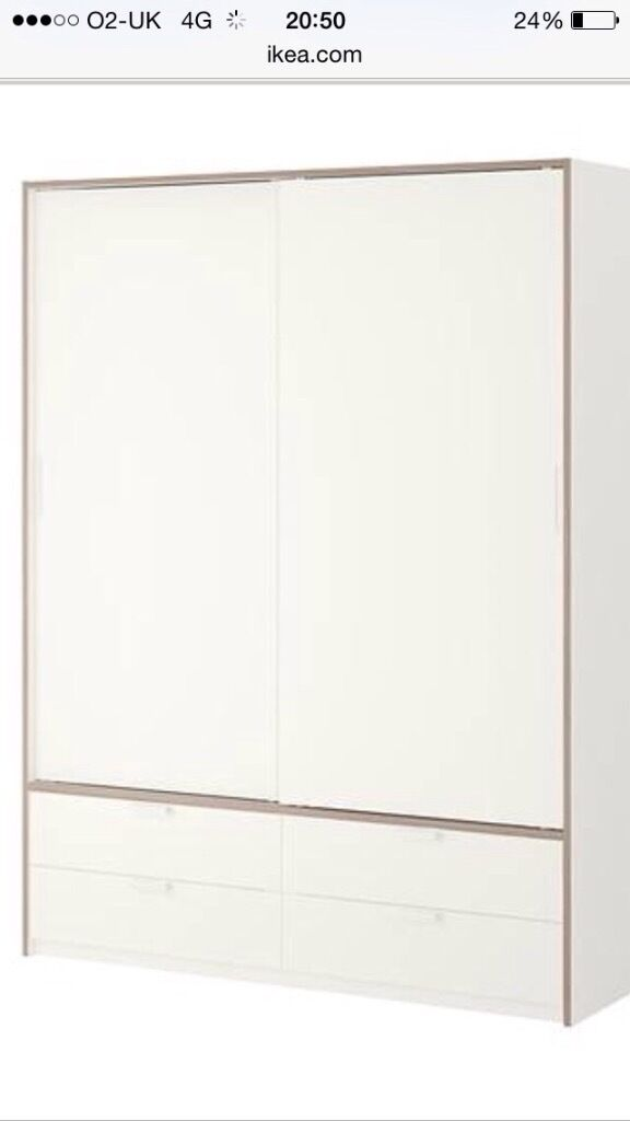 Ikea Schreibtisch Expedit Mit Regal ~ IKEA trysil wardrobe with sliding doors  White wardrobe with sliding