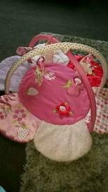 Baby girls activity play time mat
