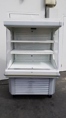 Hussmann Gsvm-4060 40w Open-air Curtain Cooler Merchandiser 115v Local Pickup