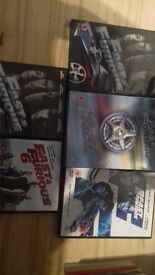 joblot ofnfast and furoius dvds £5 for all