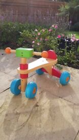 ELC Early Learning Centre wooden trike ride on