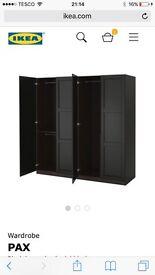 PAX WARDROBES - Black-brown 200cm x 201.2cm