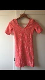 Topshop pink floral dress - size 8