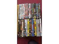 Collection of 34 DVDs (action/thriller/horror/comedy