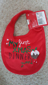Baby's First Christmas Bib (New with tags)