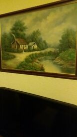 oil painting sign by D.perry. cant see what the other one says but it is signed