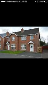 Beautiful 3 bed semi for rent in craigavon no dhs