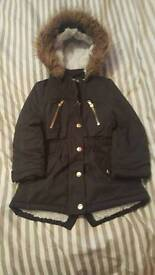 Back girls school coat