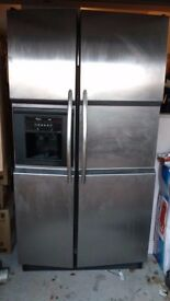 Whirlpool American Fridge Freezer Side by Side, with ice and water dispenser