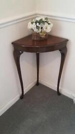 Mahogany corner table