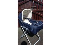 Good looking pram/buggy/ carrycot doubles as a Moses basket and converts to pushchair