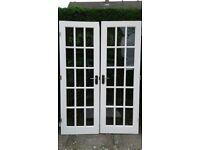 set internal french doors