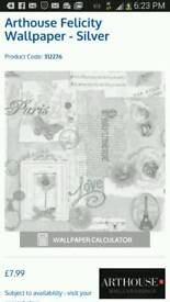 Arthouse felicity wallpaper silver