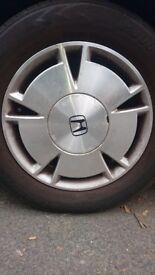 Honda civic ima hybrid tyre with alloy 195/65 R15 (6mm tread)