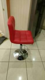 Fuax leather kitchen bar stool
