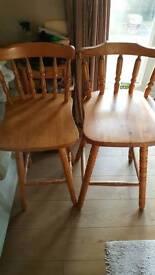 2 x wooden bar stool