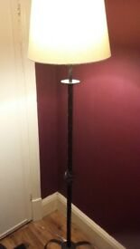 Free standing tall lamp