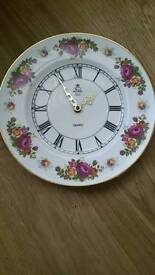 Royal imperial finest bone China quartz clock