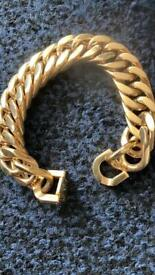 Fab Heavy GP Double Curb Bracelet 118.62g, WILLING TO POST