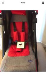 Brand new red Chicco pushchair