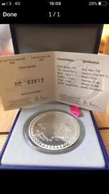 Solid Silver Coco Chanel Coin
