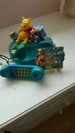 DISNEY WINNIE THE POOH/ PIGLET COLLECTABLE HOME PHONE AND ALARM CLOCK