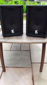bass amplifier and speakers