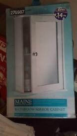 White bathroom cabinet brand new