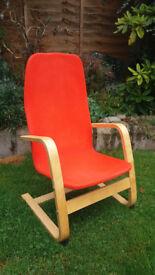 Kids Ikea Poang Chair - Comfy Orange Child's Chair