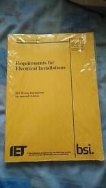 BS7671 17th Edition Electrical Regs books