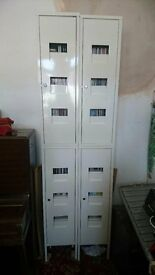 Habitat CD/DVD 4 piece white metal storage unit in good condition