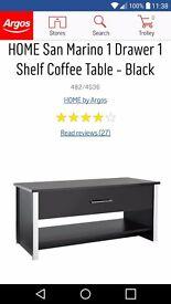 Argos San Marino Black Coffee Table