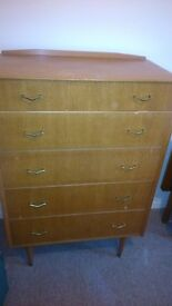 Chest of drawers and matching dressing table