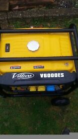 Villiers V6000es Electric Start Petrol Generator 5.5kw 6kva With Wheel Kit