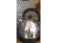 Cookworks kettle nearly new (silver)