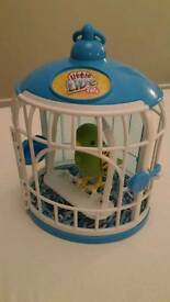 Little Live Pets talking bird and cage
