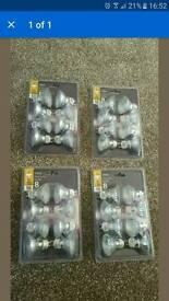 4 packets 8 x Halogen GU10 50 Watt Light Bulbs