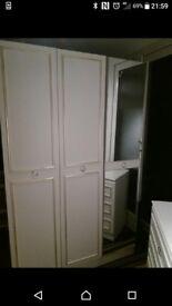 White Bedroom furniture wardrobe /drawers