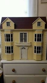 GORGEOUS DOLLS HOUSE AND £100 FURNITURE AND ACCESORIES - BARGAIN!
