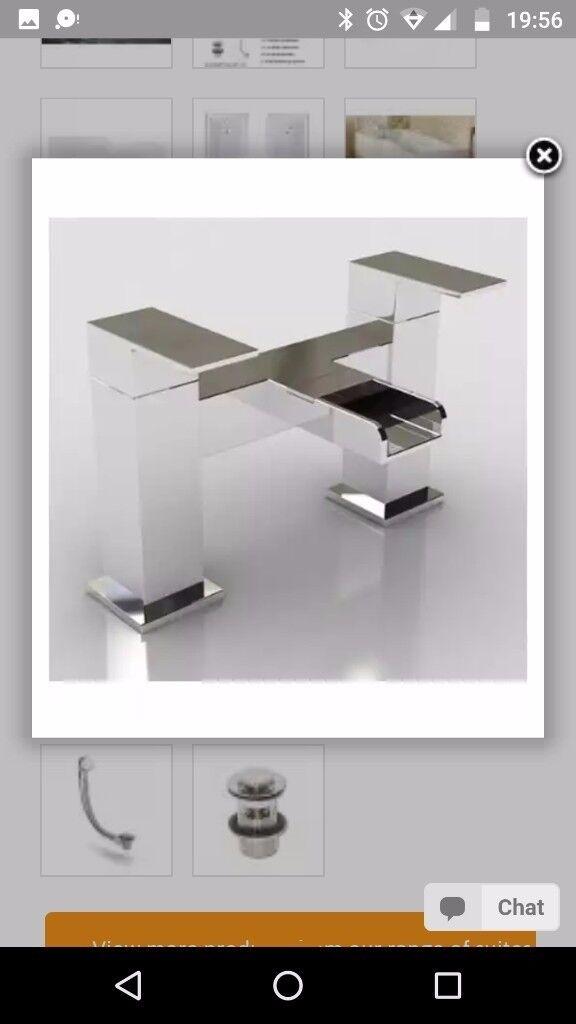 Bathroom waterfall taps