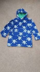 Mini boden towelling hoody age 7-8