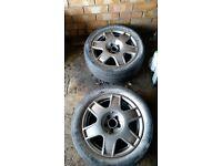 Vw golf mk4 bora 5x100 alloy wheels audi a3