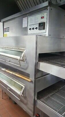 Middleby Marshall Ps 360qs Double Stack Natural Gas Conveyor Pizza Ovens