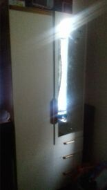 wardrobe,chest draw,bed side table all in good codition and same colout