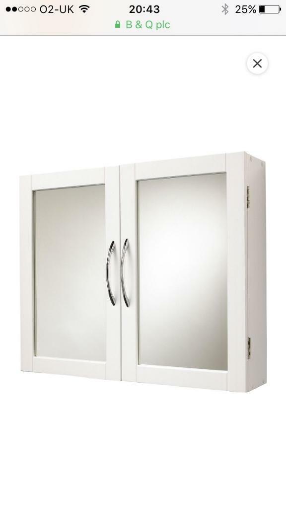 new arrivals 105ae 964d9 Double door white mirror bathroom cabinet | in Stamford Bridge, North  Yorkshire | Gumtree