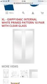Xl pattern 10 - White primed double doors