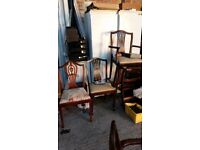 Mixed lot dinning chairs