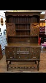 Vintage Ornate Oak Welsh Dresser