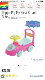 Peppa Pig ride on car
