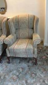 4 dralon armchairs